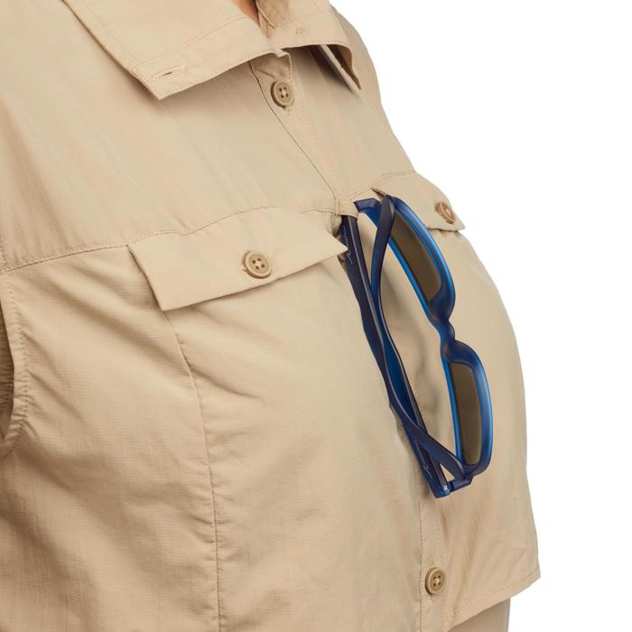 Chemise manches longues de Trekking désert DESERT 500 femme beige - 1291834