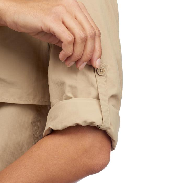 Chemise manches longues de Trekking désert DESERT 500 femme beige - 1291837