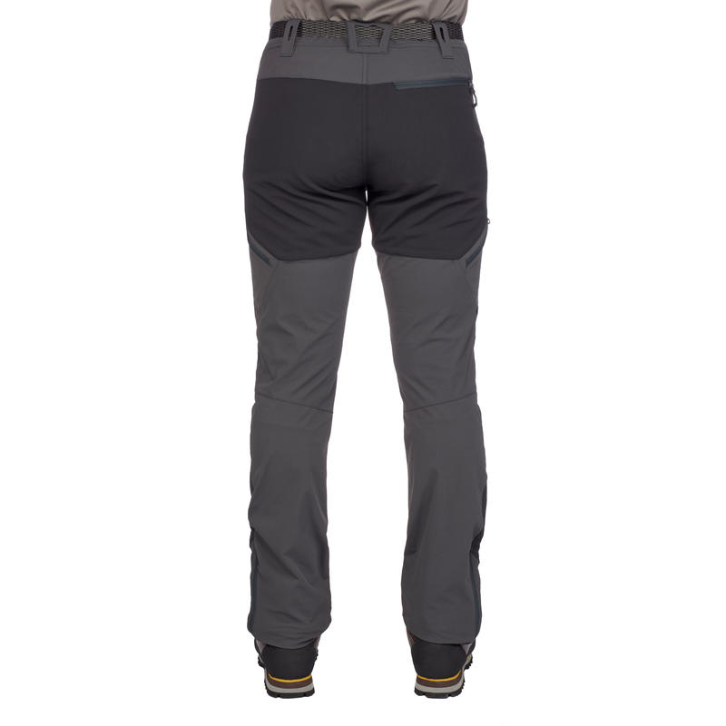 Men's mountain trekking trousers - TREK 900 - dark grey