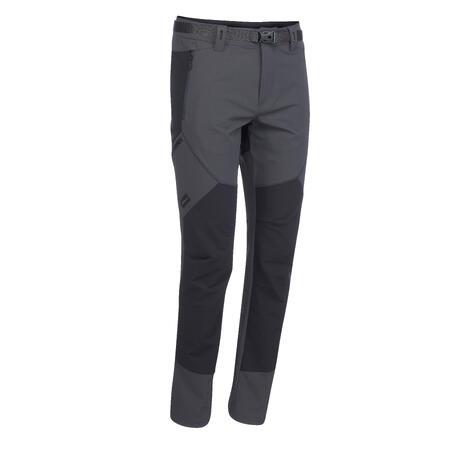 Men's mountain trekking trousers - TREK 900 - dark grey