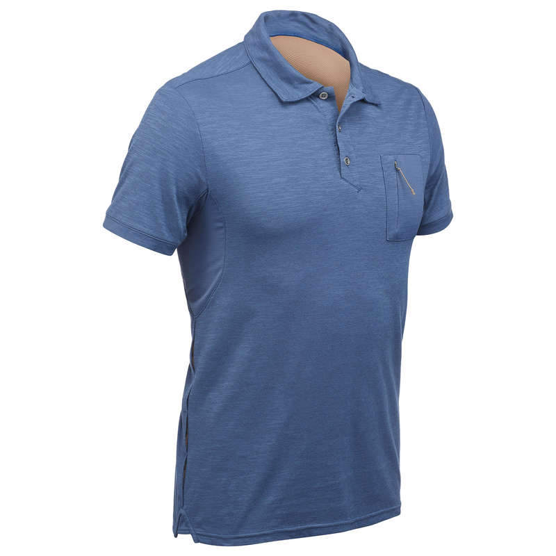 MEN APPAREL OUTFIT TRAVEL TREK - TRAVEL100 M SS POLOSHIRT - BLU FORCLAZ