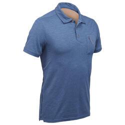 男士短袖健行運動衫 Arpenaz 500 - 綠色