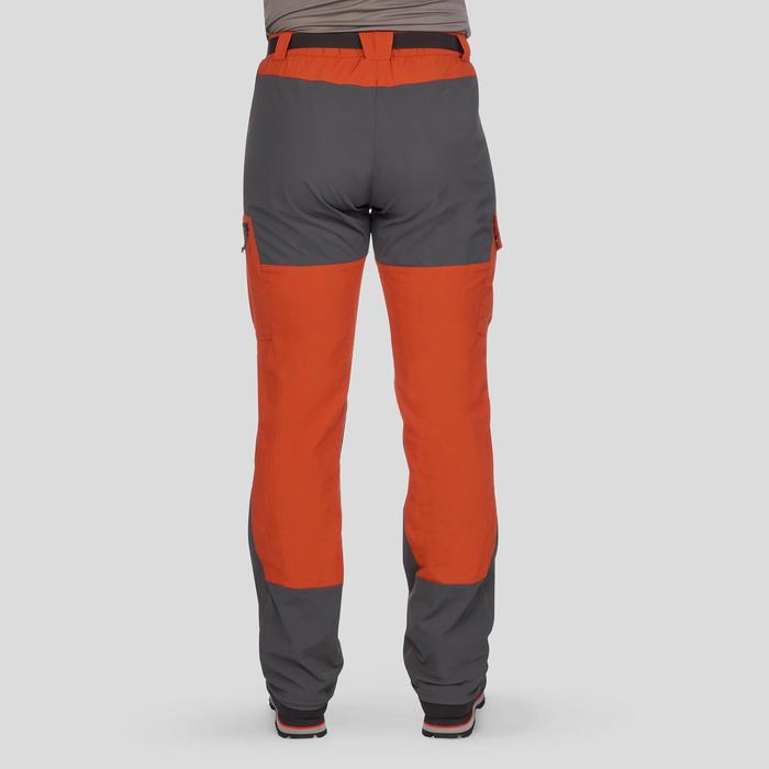 Pantalón de Montaña y Trekking Forclaz Trek 500 Hombre Rojo