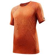 Men's TREK 500 short-sleeved mountain trekking T-shirt - Orange