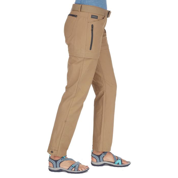 Pantalón TRAVEL 500 TRANSFORMABLE mujer camel
