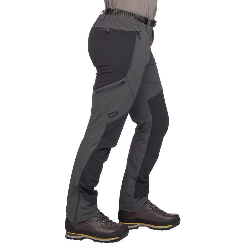 Pantalón trekking montaña TREK 900 hombre gris oscuro
