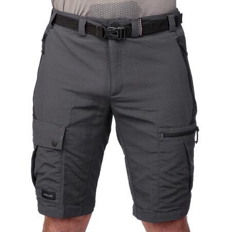 Short de rando montagne TREK 500 gris foncé - Hommes