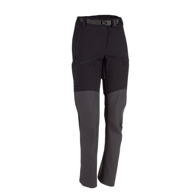 Women's Mountain Trekking Water-repellent Trousers - MT 900 Black