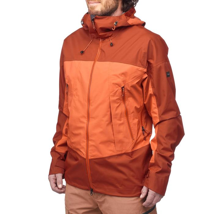 Veste imperméable trekking montagne TREK500 homme orange