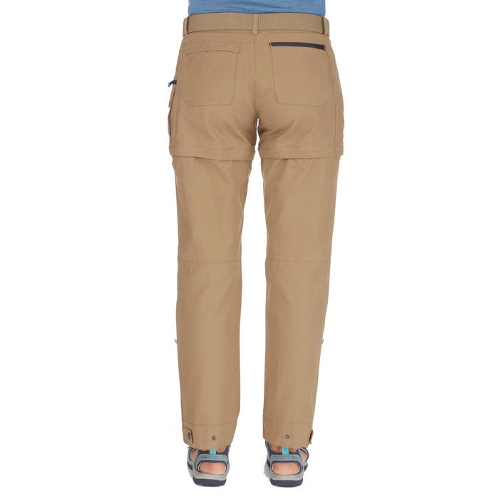 Travel500 Women's Modular Trekking Trousers - Camel