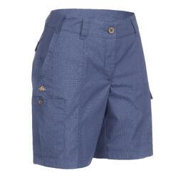 女款短褲TRAVEL 100-棕色