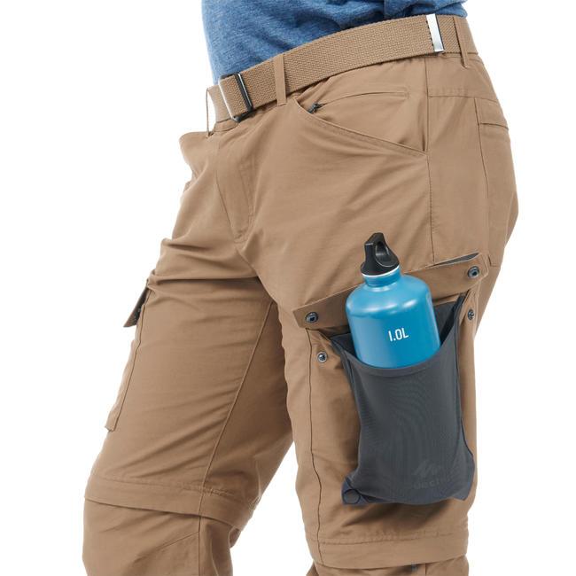 Men's ZIP-OFF Travel Trousers TRAVEL 500 - Camel