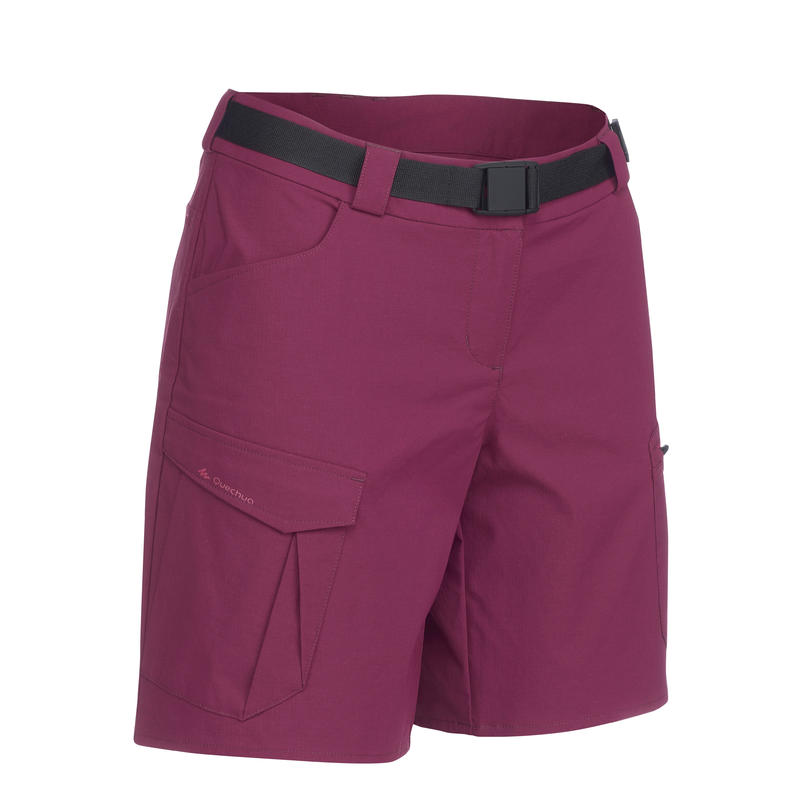 Women's Burgundy Mountain Trekking Shorts TREK100