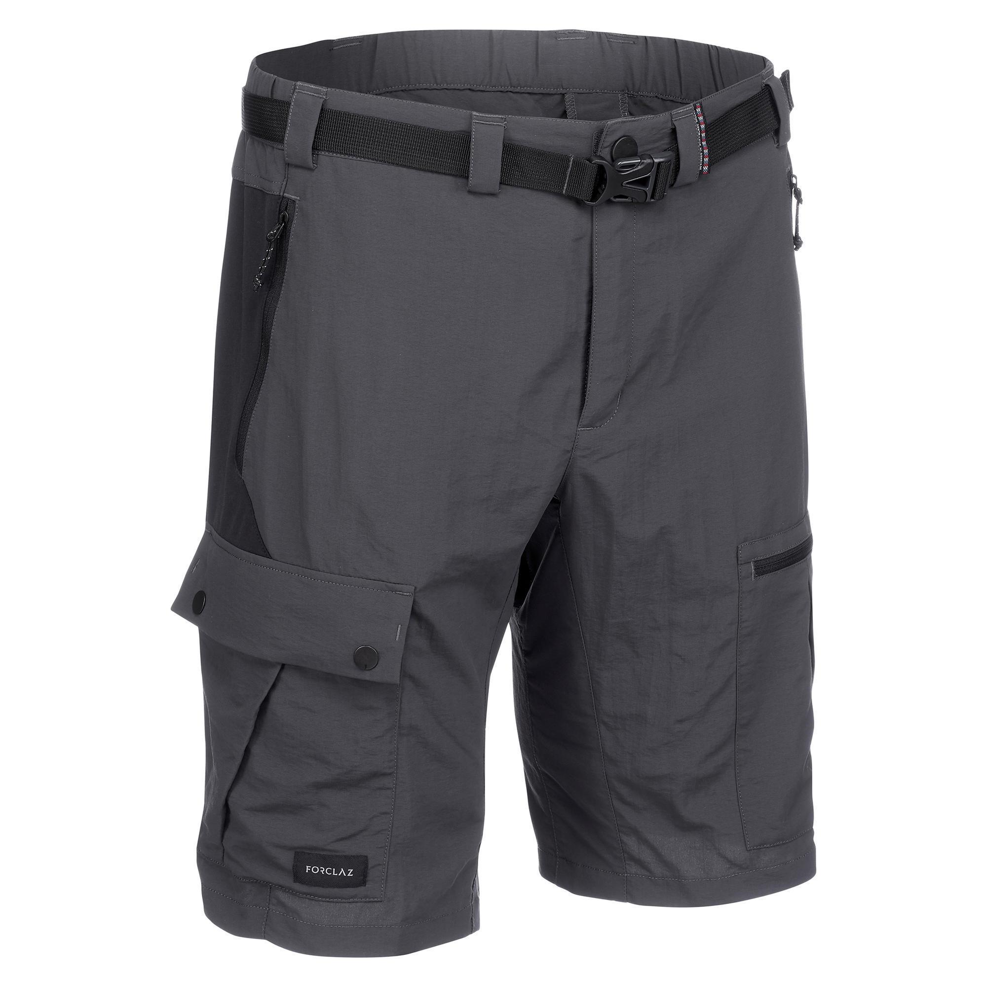 Trekkingshorts Trek 500 Herren dunkelgrau | Bekleidung > Shorts & Bermudas > Trekkingshorts | Grau - Schwarz | Forclaz