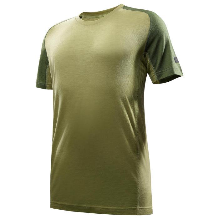 T Shirt Manches Courtes Randonnée TechWOOL 500 homme - 1292031