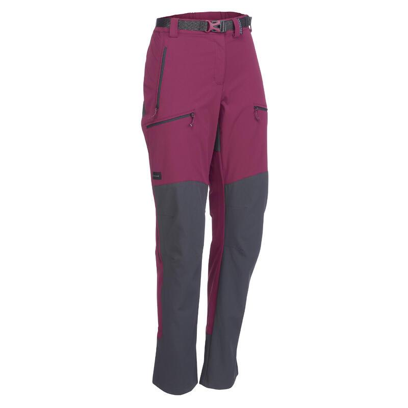 Pantalon de trek montagne   Trek 900 bordeaux femme