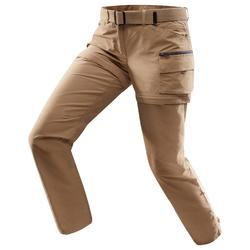 Pantalon modulable treking TRAVEL500 femme camel