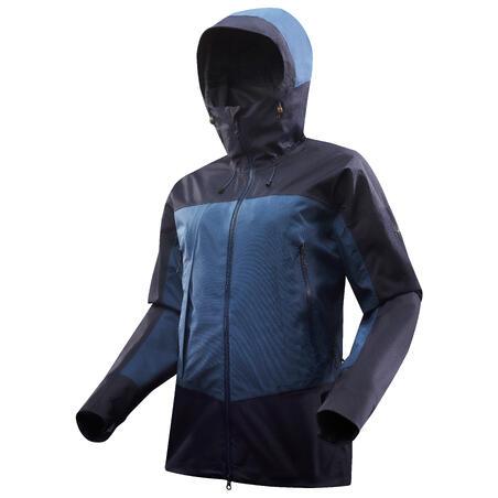 Veste imperméable de randonnée TREK 500 bleu - Hommes