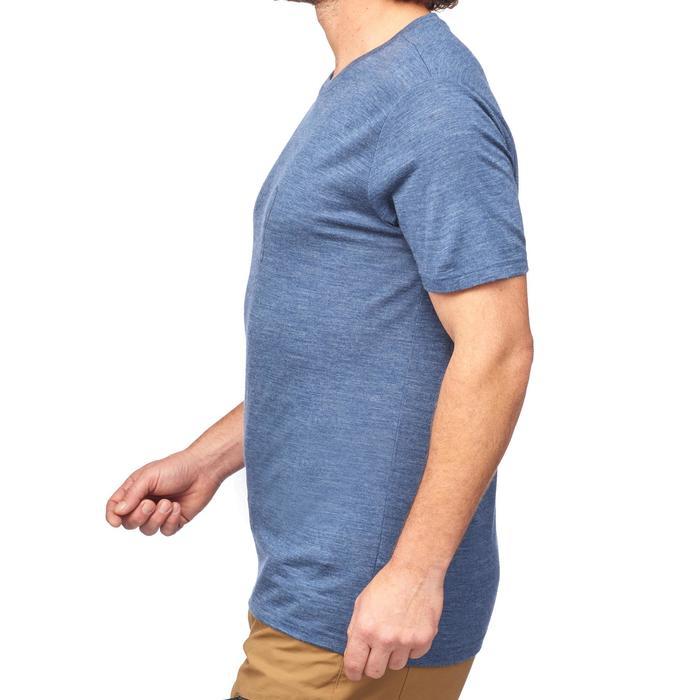 T-Shirt manches courtes randonnée Techwool 155 homme - 1292048