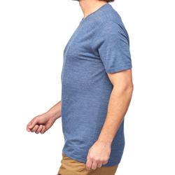 Travel 500 Men's Trekking Wool Short-Sleeved T-Shirt - Blue