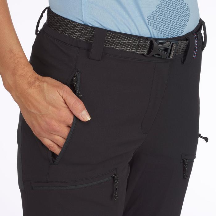 Women's mountain trekking trousers - TREK 900 - Black