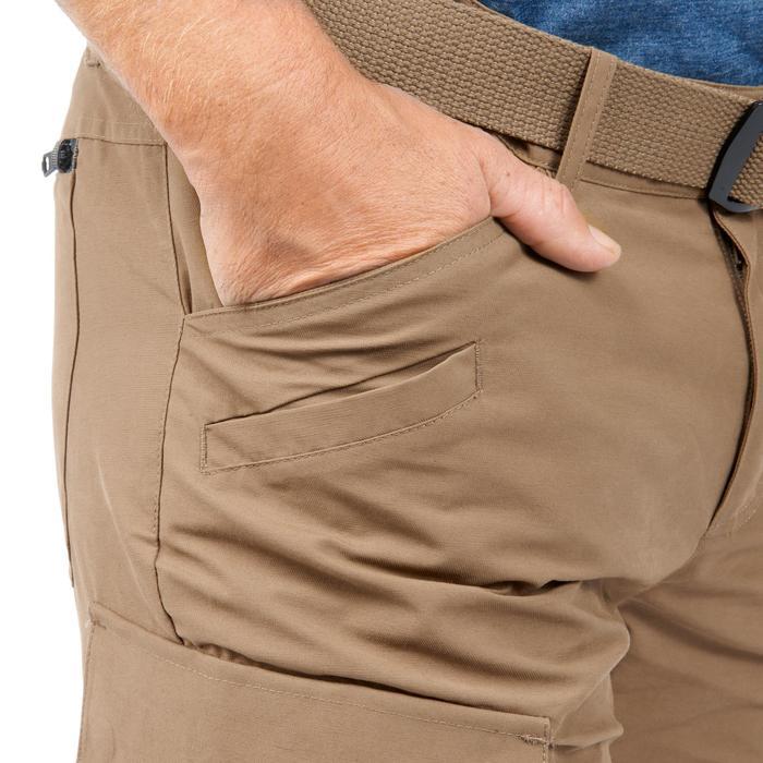 Pantalon TRAVEL500 MODUL HOMME CAMEL