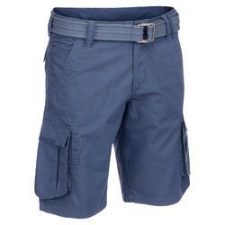 Pantalón corto trekking TRAVEL500 hombre azul