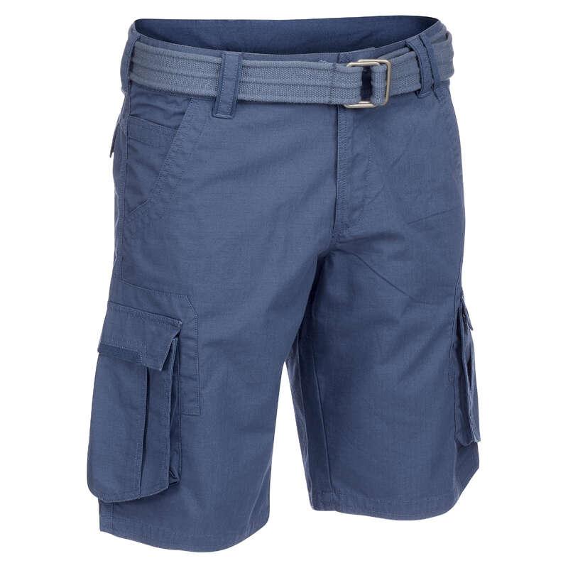 MEN APPAREL OUTFIT TRAVEL TREK - Travel500 M Shorts - Blue FORCLAZ