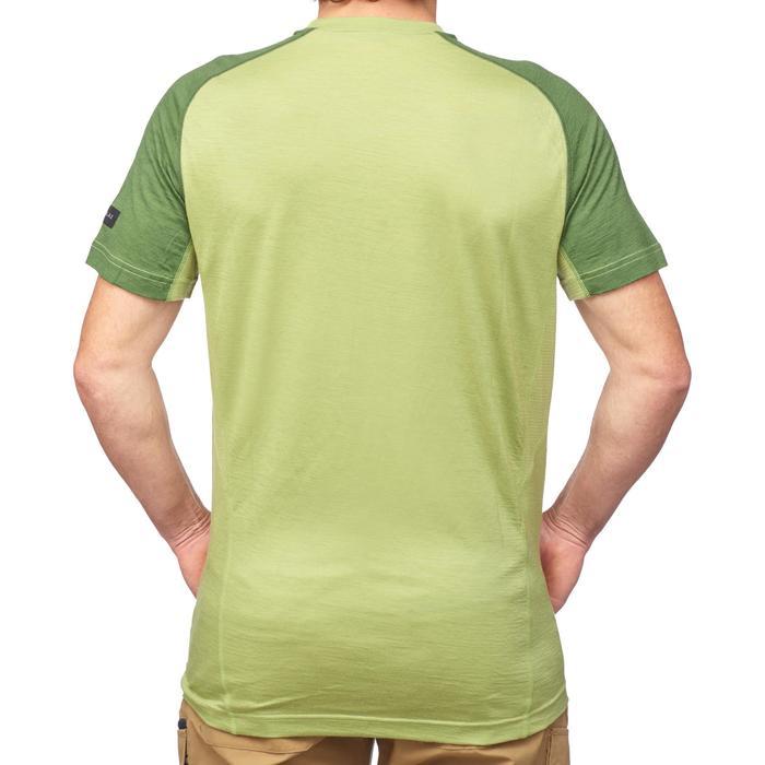 Merinoshirt kurzarm Trek 500 Wool Herren grün