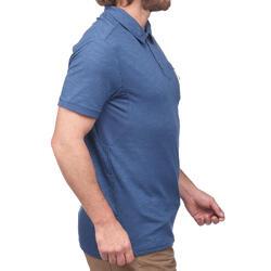 Travel 100 Men's Short-Sleeved Polo Shirt - Blue