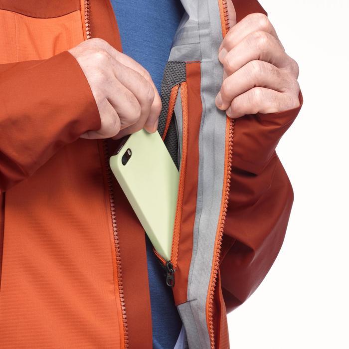 Waterdichte jas voor bergtrekking heren Trek 500 oranje