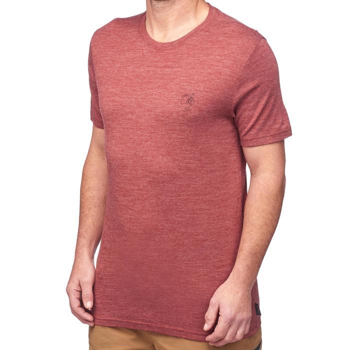 T-Shirt manches courtes randonnée Techwool 155 homme - 1292122
