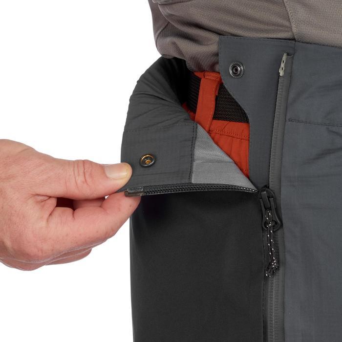 Sur-pantalon imperméable de trek montagne - TREK 500 gris foncé homme