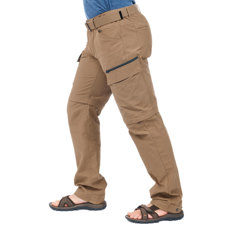 กางเกงผู้ชายแบบถอดขาได้รุ่น Travel 500 (สีน้ำตาล Camel)