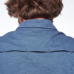 Poloshirt kurzarm Travel 100 Herren blau