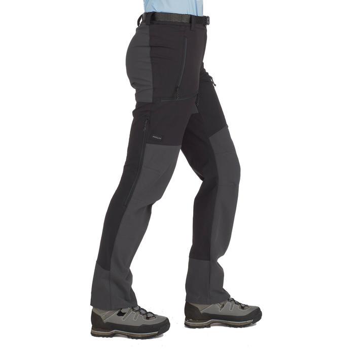 Pantalón de Montaña y Trekking Forclaz Trek900 Mujer Negro
