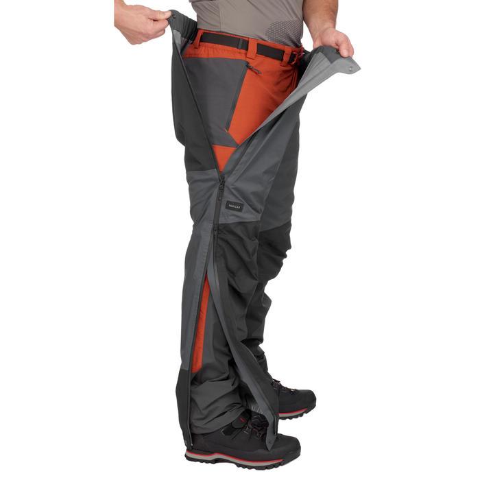 Sur-pantalon imperméable trekking montagne TREK500 homme gris