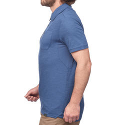 Travel 100 Men's Short-Sleeved Polo Shirt - Blue