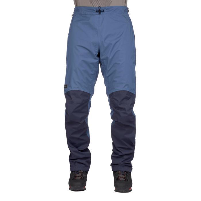 Sur-pantalon imperméable trekking montagne TREK500 homme bleu