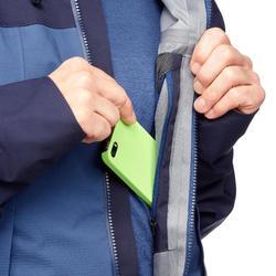 Waterdichte jas voor bergtrekking heren Trek 500 blauw