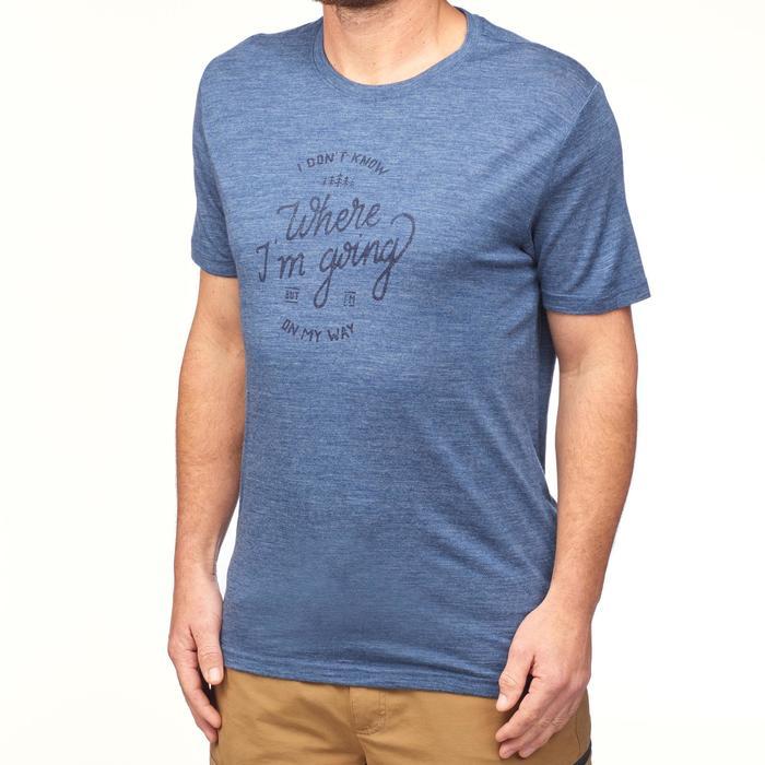 T-Shirt manches courtes randonnée Techwool 155 homme - 1292176