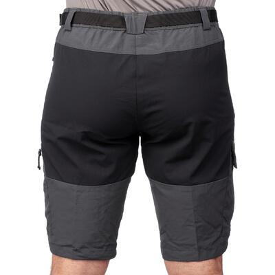 מכנסיים קצרים לגברים TREK 700 לטרקים בהרים -אפור כהה