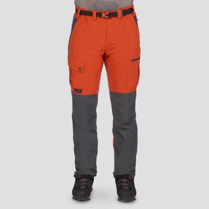 Pantalon de trek montagne - TREK 500 marron homme