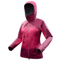 Women's Mountain Trekking Waterproof Jacket Trek 500 - Pink