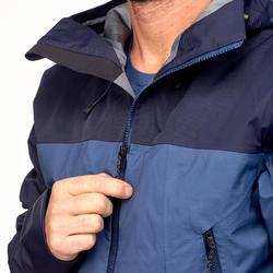 Veste imperméable de trek montagne - TREK 500 bleu homme