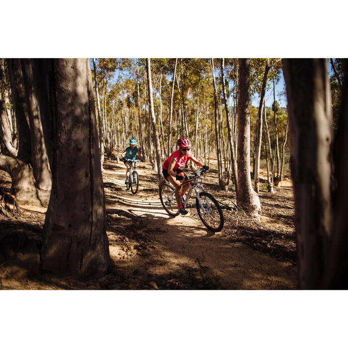 """Mountainbike 27,5"""" Rockrider 560 Alu Damen weiß/silber/pink"""