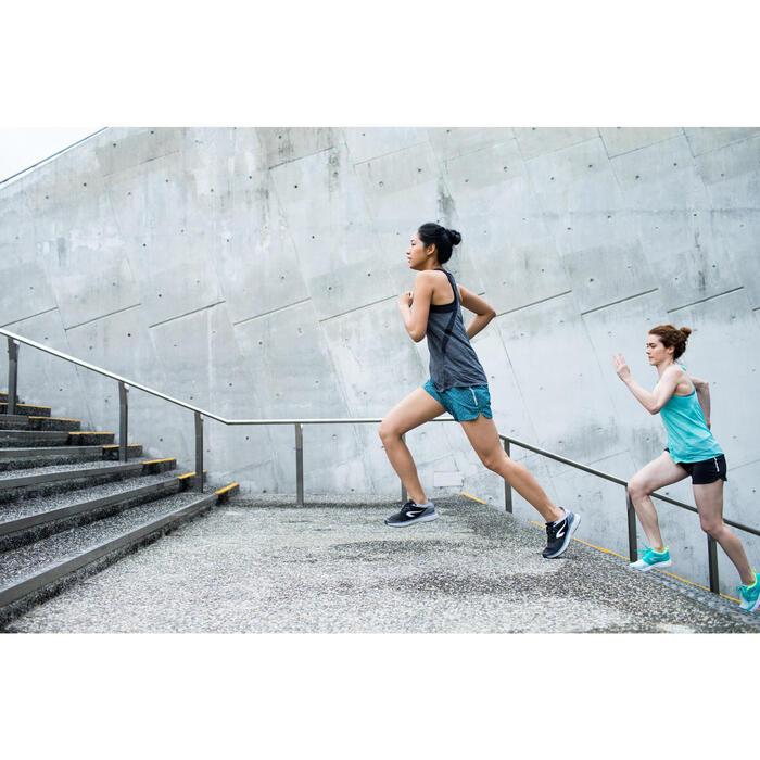 SHORT JOGGING FEMME RUN DRY PRINT BLEU CORAIL - 1292302