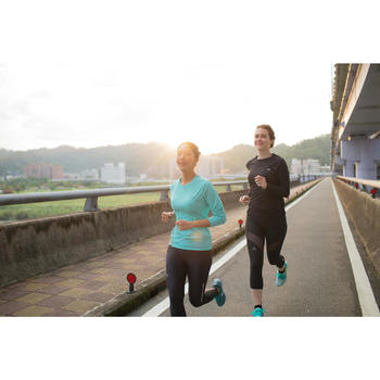 Damesshirt met lange mouwen voor jogging Run Sun Protect zwart