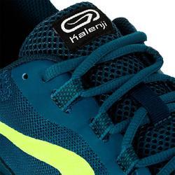 Zapatillas Running Kalenji Run Active Grip Hombre Azul Prusia/Amarillo