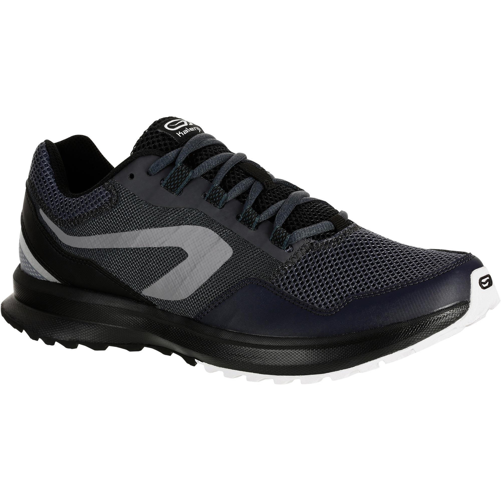 Kalenji Hardloopschoenen voor heren Run Active Grip grijs/zwart